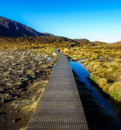 hiking the tongariro alpine crossing,sunrise,volcanic crater,new zealand
