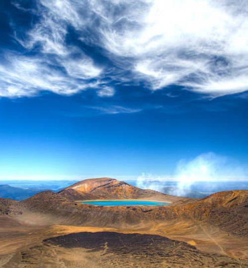 Lake Blue - top of the Tongariro crossing hiking